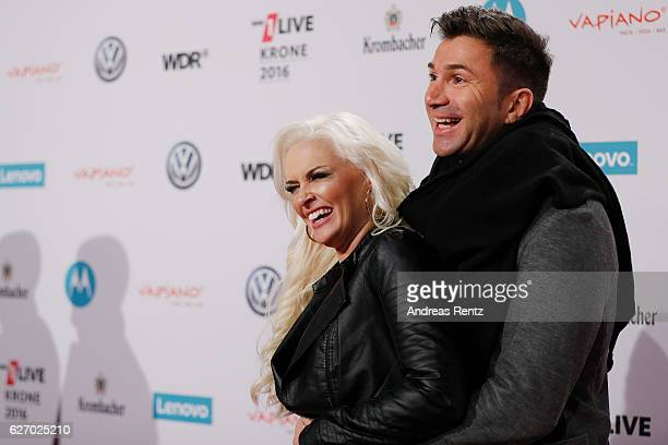 Daniela Katzenberger and Lucas Cordalis attend the 1Live Krone at Jahrhunderthalle on December 1 2016 in Bochum Germany