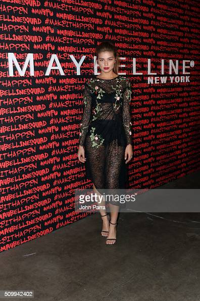 Daniela Lopez Osorio attends Maybelline New York celebrates fashion week at Dream Downtown Hotel on February 12 2016 in New York City