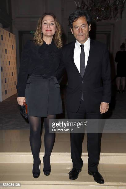 Daniela Lumbroso and Eric Ghebali attend 'La Recherche en Physiologie' Charity Gala at Four Seasons Hotel George V on March 13 2017 in Paris France
