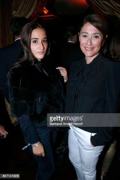 Daniela Lumbroso and her daughter Carla attend the Reopening of the Hotel Barriere Le Fouquet's Paris decorated by Jacques Garcia at Hotel Barriere...