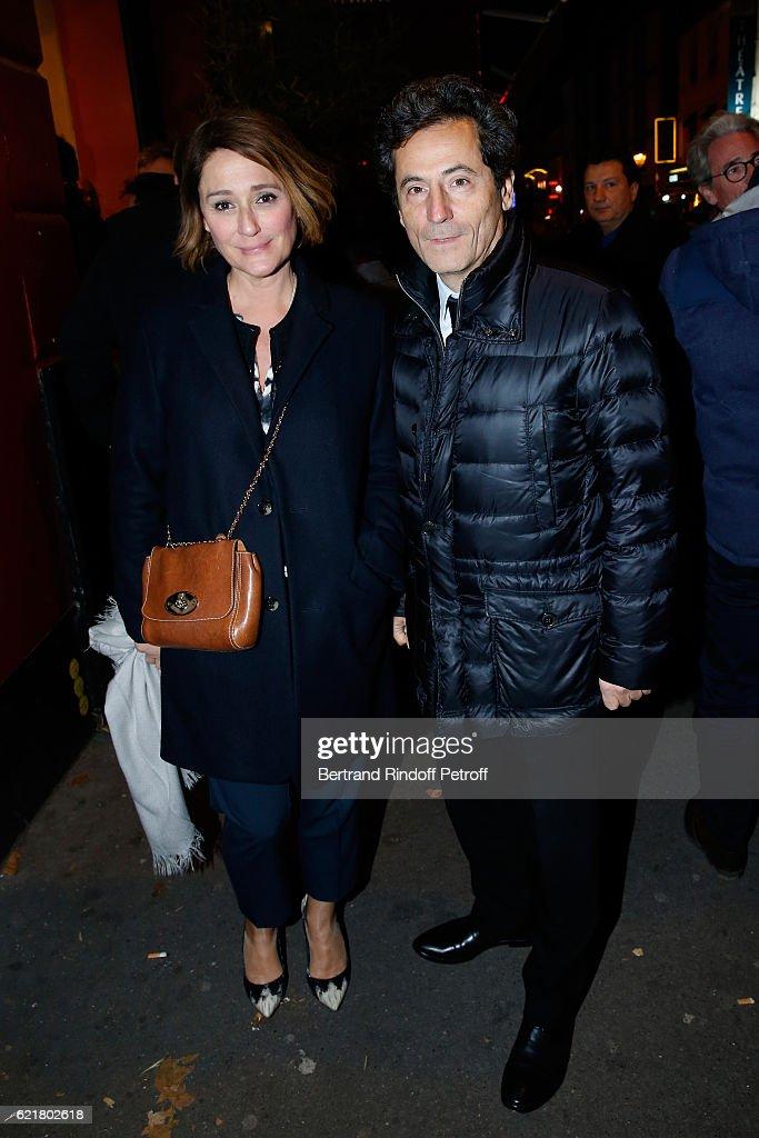 Daniela Lumbroso and her husband Eric Ghebali attend Louis-Michel Colla, the Director of the 'Theatre de la Gaite Montparnasse', Celebrates his 60th Anniversary at Theatre de la Gaite Montparnasse on November 8, 2016 in Paris, France. daniela Lumbroso et mari