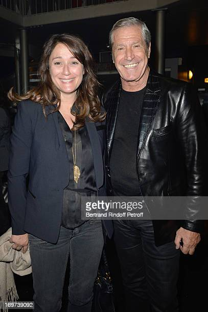 Daniela Lumbroso and JeanClaude Darmon backstage after Patrick Bruel's concert at Zenith de Paris on May 29 2013 in Paris France