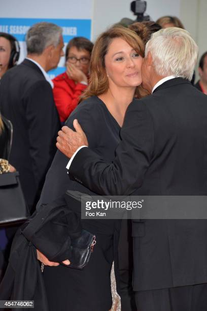 Daniela Lumbroso arrives at the opening ceremony of 40th Deauville American Film Festival on September 5 2014 in Deauville France
