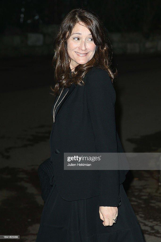 Daniela Lumbroso attends the 28th Dinner of 'Conseil Rrepresentatif Des Institutions Juives De France at Pavillon d'Armenonville on March 20, 2013 in Paris, France.