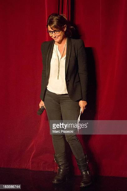 Daniela Lumbroso attends the Matt Pokora waxwork unveiling at Musee Grevin on October 7 2013 in Paris France