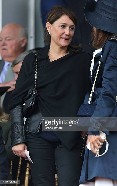 Daniela Lumbroso attends the Qatar Prix de I'Arc de Triomphe at Longchamp racecourse on October 5 2014 in Paris France