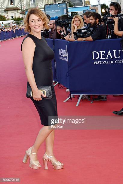 Daniela Lumbroso attends the Tribute to Stanley Tucci 42nd Deauville American Film Festival at CID on September 3 2016 in Deauville France