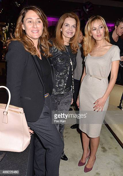 Daniela Lumbroso Cyrielle Claire and Nezha Alaoui attend the 'Mayshad Luxury Bag BFF' Launch Party At Park Hyatt Vendome on November 18 2014 in Paris...