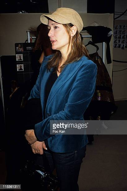Daniela Lumbroso during Paris Fashion Week Ready To Wear Fall/Winter 2005 Jean Louis Scherrer Show at Backstage Carrousel Du Louvre in Paris France