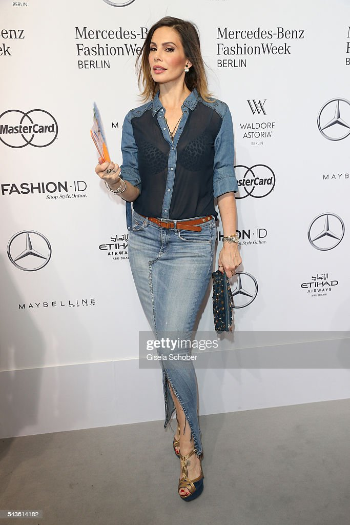 Daniela Michalski attends the Minx by Eva Lutz show during the Mercedes-Benz Fashion Week Berlin Spring/Summer 2017 at Erika Hess Eisstadion on June 29, 2016 in Berlin, Germany.