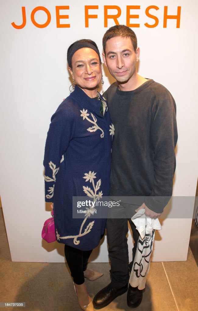 Daniela Morera and Joshua Abelow attend the Joe Fresh Soho opening party at Joe Fresh Soho on October 15 2013 in New York City