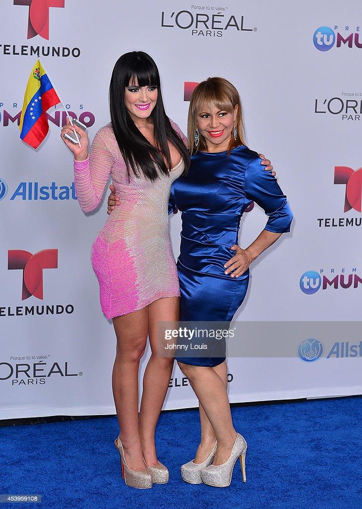Daniela Navarro arrives at Telemundo's Premios Tu Mundo Awards 2014 at American Airlines Arena on August 21, 2014 in Miami, Florida.