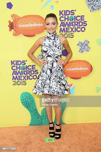 Daniela Nieves arrives at Nickelodeon Kids' Choice Awards Mexico 2015 Red Carpet at Auditorio Nacional on August 15 2015 in Mexico City Mexico