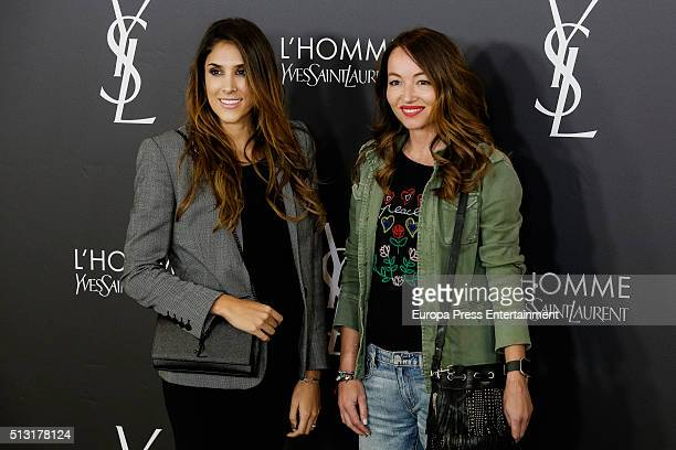 Daniela Ospina and Ana Antic attend the Yves Saint Laurent Beauty cocktail party at Espacio Molteni Co on February 29 2016 in Madrid Spain
