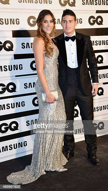 Daniela Ospina and James Rodriguez attend GQ 2015 Men of the Year Awards at Palace Hotel on November 5 2015 in Madrid Spain