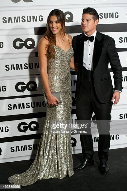 Daniela Ospina and James Rodriguez attend GQ Men of the Year Awards at Palace Hotel on November 5 2015 in Madrid Spain