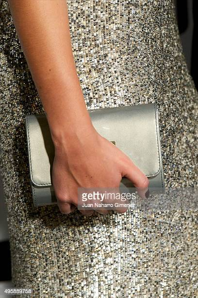 Daniela Ospina handbag detail attends GQ Men of the Year Awards at Palace Hotel on November 5 2015 in Madrid Spain