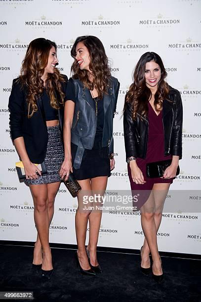 Daniela Ospina Joana Sanz and Melissa Jimenez attend 'Moet Chandon' party at Circulo de Bellas Artes on December 2 2015 in Madrid Spain