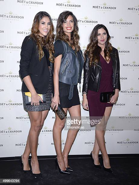 Daniela Ospina Joana Sanz and Melissa Jimenez attend the 'Moet Chandon' Party at the Circulo de Bellas Artes on December 2 2015 in Madrid Spain