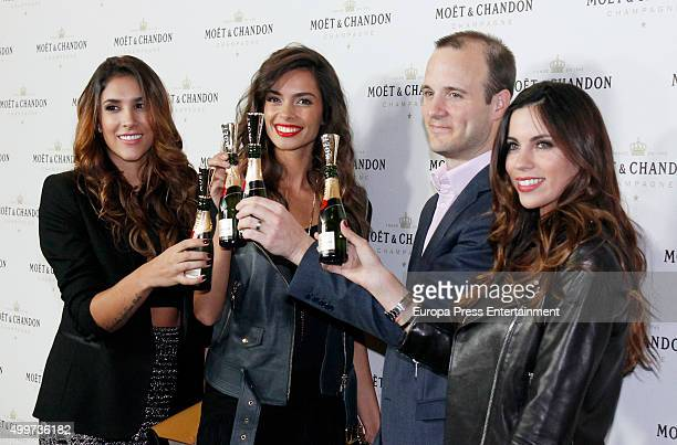 Daniela Ospina Joana Sanz guest and Melissa Jimenez attend 'Moet Chandon' party on December 2 2015 in Madrid Spain