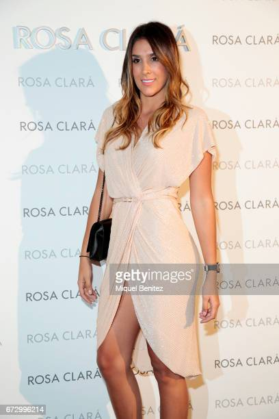 Daniela Ospina poses during a photocall for the Rosa Clara Show during Barcelona Bridal Fashion Week 2017 on April 25 2017 in Barcelona Spain