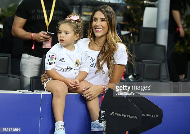 Daniela Ospina wife of James Rodriguez of Real Madrid and their daughter Salome Rodriguez Ospina attend the UEFA Champions League final between Real...