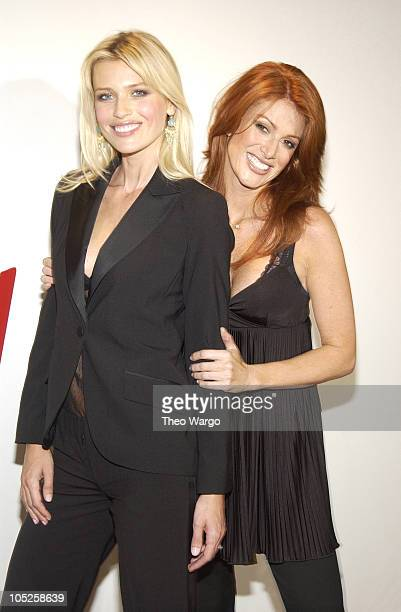 Daniela Pestova and Angie Everhart during Angie Everhart and Daniela Pestova Unveil New HM Lingerie Campaign at HM SOHO in New York City New York...