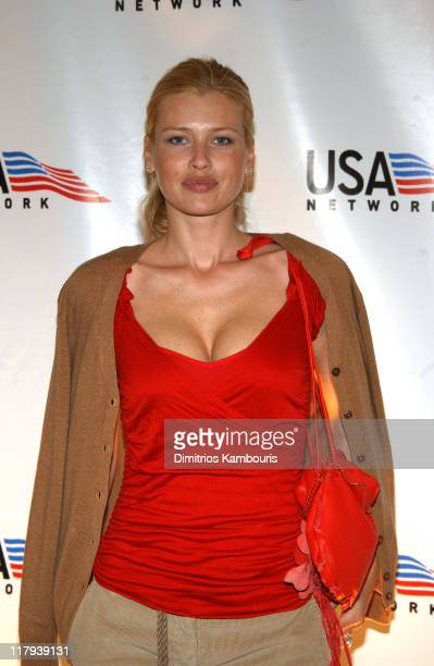 Daniela Pestova during USA Network Celebrates the Opening of the 2002 US Open at ACES Restaurant at the Arthur Ashe Stadium in Flushing Meadows New...