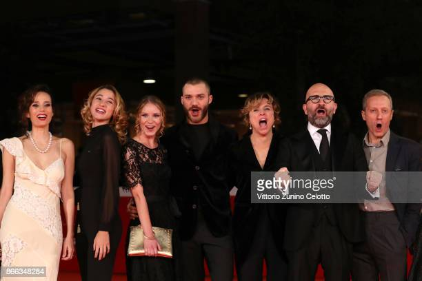 Daniela Piazza Sabrina Martina Ekaterina Buscemi Lorenzo Richelmy Michela Cescon Donato Carrisi and Pietro Faiella walk the red carpet for 'La...