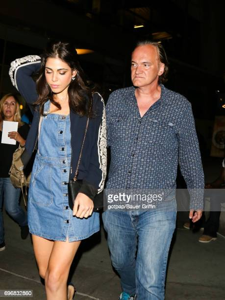 Daniela Pick and Quentin Tarantino are seen on June 16 2017 in Los Angeles California