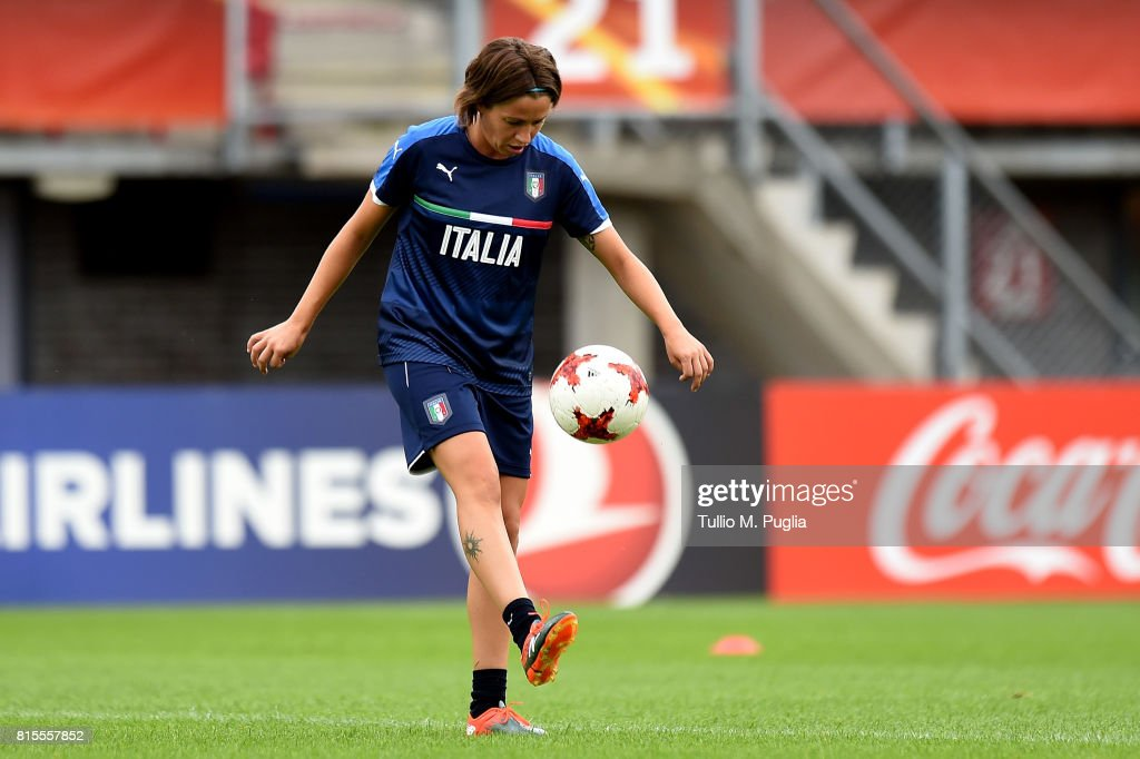 Daniela Sabatino of Italy women's national team takes part in a training session during the UEFA Women's EURO 2017at Sparta Stadion Het Kasteel on July 16, 2017 in Rotterdam, Netherlands.