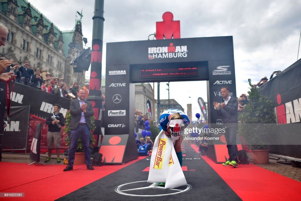 Daniela Saemmler of Germany wins the IRONMAN Hamburg in the Womens Elite race on August 13, 2017 in Hamburg, Germany.