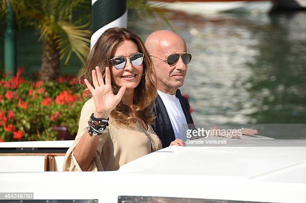Daniela Santanchè and Alessandro Sallusti are seen on Day 1 of the 71st Venice International Film Festival on August 27 2014 in Venice Italy