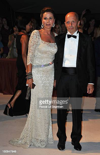 Daniela Santanche and Alessandro Sallusti attend the Opening Ceremony Dinner during the 69th Venice International Film Festival at Palazzo del Cinema...