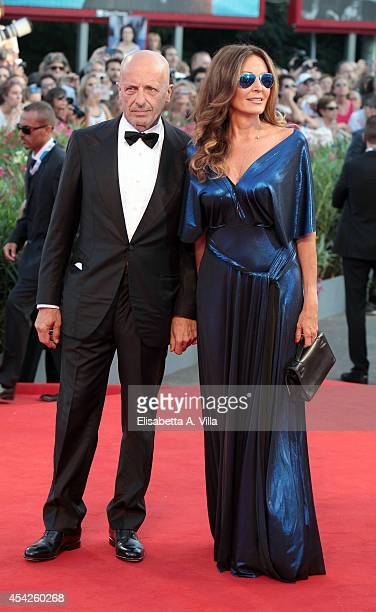 Daniela Santanche and Alessandro Sallusti attend the Opening Ceremony and 'Birdman' premiere during the 71st Venice Film Festival on August 27 2014...