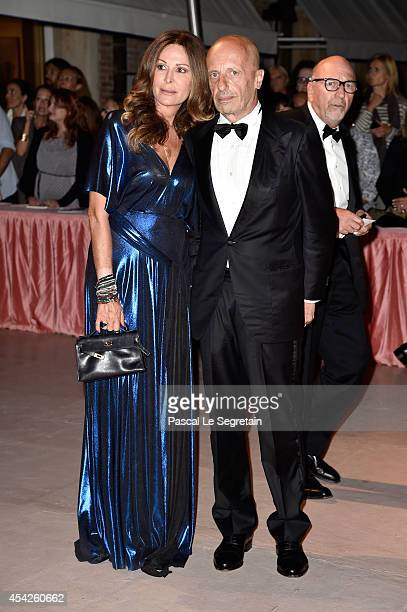 Daniela Santanche and Alessandro Sallusti attends the Opening Dinner during the 71st Venice Film Festival on August 27 2014 in Venice Italy