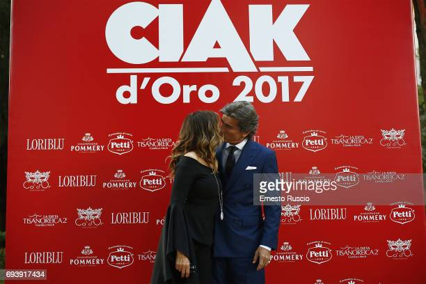 Daniela Santanche and Dimitri Kunz attend Ciak D'Oro 2017 at Link Campus University on June 8 2017 in Rome Italy