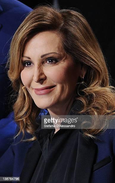 Daniela Santanche attends 'Chiambretti Night' Italian TV Show on February 11 2012 in Milan Italy
