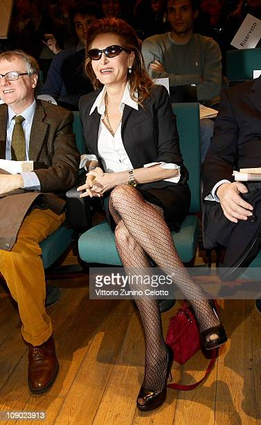 Daniela Santanche attends the 'In Mutande Ma Vivi' demonstration held at Teatro Dal Verme on February 12 2011 in Milan Italy 'In mutande ma vivi' is...
