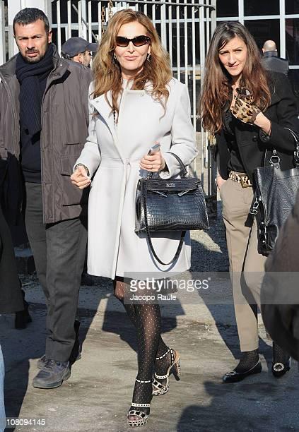 Daniela Santanche attends the John Richmond Fashion Show as part of Milan Fashion Week Menswear A/W 2011 on January 17 2011 in Milan Italy