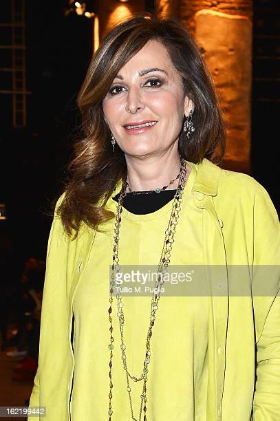 Daniela Santanche attends the Simonetta Ravizza fashion show as part of Milan Fashion Week Womenswear Fall/Winter 2013/14 on February 20 2013 in...