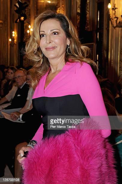Daniela Santanche attends the Simonetta Ravizza Spring/Summer 2012 fashion show as part of Milan Womenswear Fashion Week on September 21 2011 in...