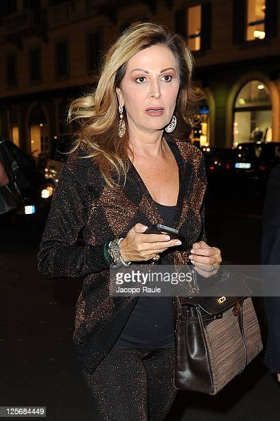 Daniela Santanche is seen arriving at Pirelli Corso Venezia Flagship Store Opening on September 20 2011 in Milan Italy