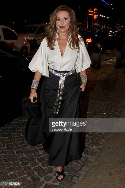 Daniela Santanche is seen during Milan Fashion Week Womenswear Spring/Summer 2011 on September 26 2010 in Milan Italy