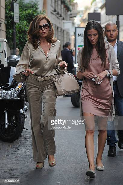 Daniela Santanche is seen during The Milan Vogue Fashion Night Out on September 17 2013 in Milan Italy