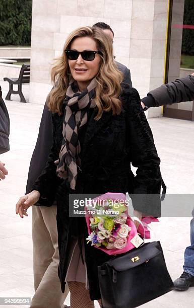 Daniela Santanche the leader of Movement for Italy political party arrives at the San Raffaele Hospital on December 14 2009 in Milan Italy Silvio...