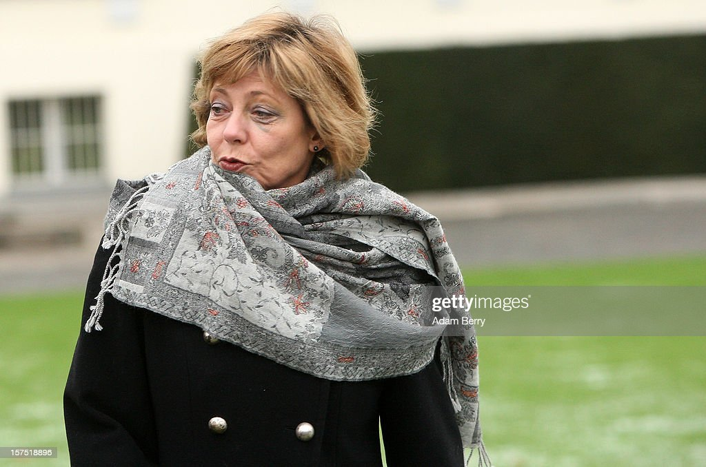 Daniela Schadt, partner of German President Joachim Gauck, arrives for the illumination ceremony for the Christmas tree at Bellevue Presidential Palace on December 4, 2012 in Berlin, Germany. The 12-meter (40-foot) tall Colorado blue spruce (Picea pungens) was planted in 1994 and is being supplied to the president for the second time by Werderaner Tannenhof Christmas tree farm in the town of Werder, just outside of the German capital.