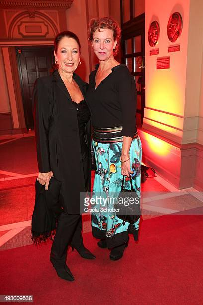 Daniela Ziegler and Margarita Broich during the Hessian Film and Cinema Award 2015 at Alte Oper on October 16 2015 in Frankfurt am Main Germany