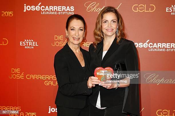 Daniela Ziegler and Rebecca Immanuel attend the 21th Annual Jose Carreras Gala at Hotel Estrel on December 17 2015 in Berlin Germany
