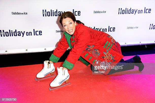Daniela Ziegler attends the 'Holiday on Ice Passion' Berlin Premiere on February 26 2016 in Berlin Germany